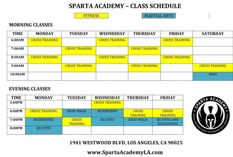 Sparta Academy Schedule
