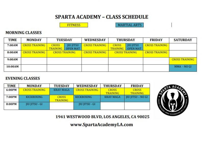 Sparta Academy Schedule 6-15-20